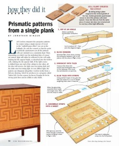 prismatic patterns from a single plank